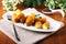 Stock Image : Fried potato croquettes