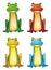 Stock Image : Frog-set
