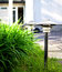 Stock Image : Front yard lamps