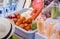 Stock Image : Fruit in Blender