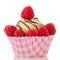 Fruit cupcake with fresh fruit