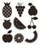 Stock Image : Fruit icons