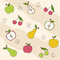 Stock Image : Fruit seamless texture, wallpaper