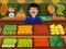 Stock Image : Fruit seller in a farmer market