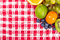 Stock Image : Fruit on tablecloth textile