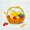 Stock Image : Fruits and vegetable in basket  for Thanksgiving