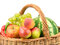 Stock Image : Fruits and vegetables in basket