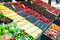 Stock Image : Fruits and vegetables at a market
