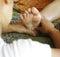 Stock Image :  Fußmassage, Reflexzonenmassagekonzept
