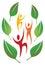 Stock Image : Fun Nature People Logo