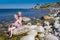 Stock Image : Fun on Swedish beach