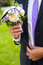 Stock Image : Funny bouquet for groom