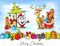 Stock Image : Funny christmas design with Santa Claus