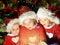 Stock Image : Funny christmas kids