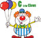 Stock Image : Funny Clown Cartoon Character With Balloons And Letter C