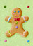 Stock Image : Funny gingerbread man