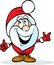 Stock Image : Funny santa claus isolated on white