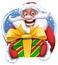 Stock Image : Funny Santa Claus sticker image