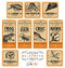 Stock Image : Funny vintage Halloween apothecary labels - set 01 ()