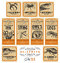 Stock Image : Funny vintage Halloween apothecary labels - set 03 ()