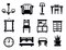 Stock Image : Furniture icon set