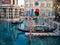 Stock Image : Góndolas en el hotel y el casino venecianos