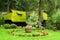 Stock Image : The Garden of Bran Castle