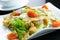 Stock Image : Garden salad with chicken fillet