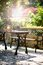 Stock Image : Garden table and bench
