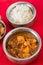 Stock Image : Garlic chicken and cashew rice