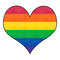 Stock Image : Gay Rainbow flag in Heart Shape