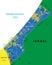 Stock Image : Gaza Strip map