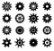 Stock Image : Gear cogs wheels icons set