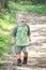 Stock Image : Gelukkig Geschikt Actief Kind in openlucht