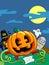 Stock Image :  Gelukkige Halloween-Scène