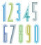 Stock Image : Geometric colorful tall decorative numbers.