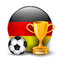 Stock Image : Germany football trophies