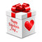 Stock Image : Gift box for Valentine's day isolated on white