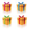 Stock Image : Gift Boxes Set