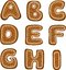 Stock Image : Gingerbread alphabet 1