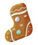 Stock Image : Gingerbread christmas cookie boot shaped