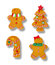 Stock Image : Gingerbread Ornaments