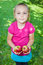 Stock Image : Girl with apples