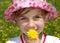 Stock Image : Girl awaiting springtime