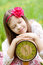 Stock Image : Girl with clock