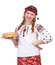 Stock Image : Girl with crepes in traditional clothes