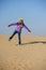 Stock Image : Girl in desert