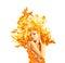 Stock Image : Girl-fire, advertising