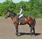 Stock Image : Girl on horse