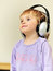 Stock Image : Girl listening to music